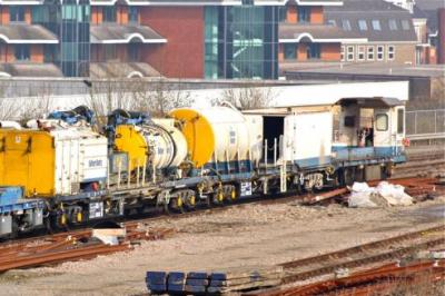 98217 with Drain Train at Woking OTPD  by Dennis Graham