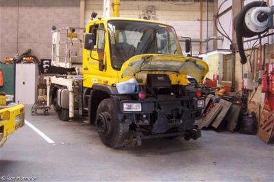 Morgan Est ETI Unimog GD02 UKL   at Morgan Est ETI Depot Rugby   by Roy Hennefer