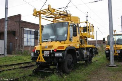 Network Rail RR - FJ57OPX at Romford OHLM Depot  by Dave Hunt