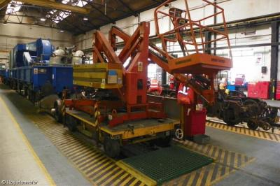 Simon Topper Access on frame of PL003 at Ashford OTPD  by Roy Hennefer