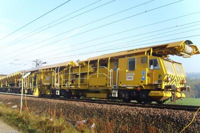 Photo of Plasser & Theurer NB-PW Ballast Distribution Train Power Wagon