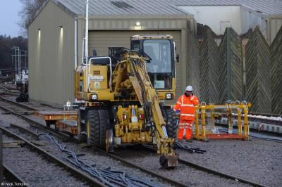 Quattro 922 (99709 940722 0) at Purley Stone Terminal Worksite  by Nick Tompkin