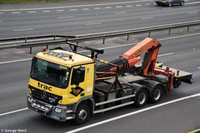 Photo of TRAC SV129 - Mercedes-Benz 2644 Flat Bed with Crane