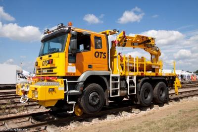Photo of QTS Iveco lorry RRU17 with trailer 011706 at Long Marston - National Plant Exhibition 2013